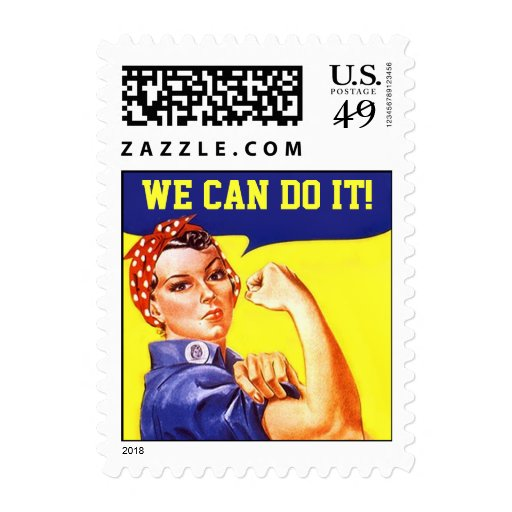 Stamp Vintage Rosie The Riveter Promo We Can Do It