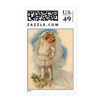 Stamp Vintage Style Little Bride Dress-up Dreaming