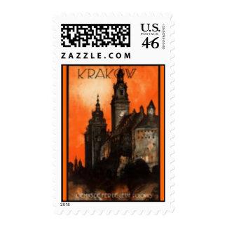 Stamp-Vintage Travel-Poland