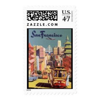 Stamp-Vintage Travel-San Francisco Postage