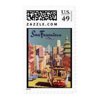 Stamp-Vintage Travel-San Francisco