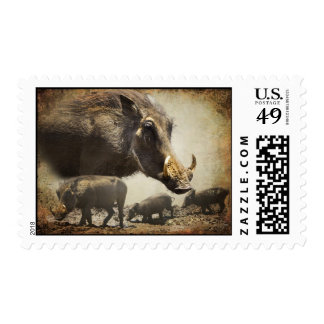 Stamp Warthog out of Africa