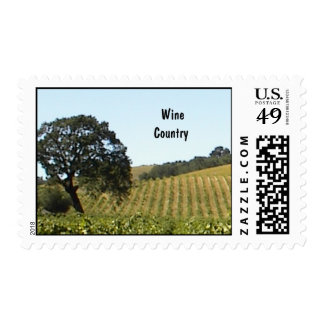 Stamp-Wine Country in August Stamp
