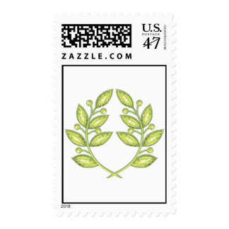 Stamp with crystal laurel wreath