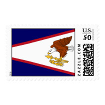 Stamp with Flag of American Samoa, U.S.A.