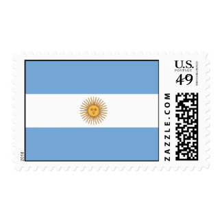 Stamp with Flag of Argentina