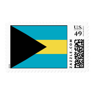 Stamp with Flag of Bahamas