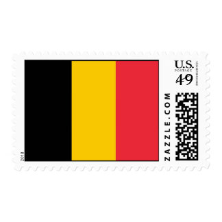 Stamp with Flag of Belgium