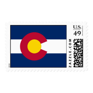 Stamp with Flag of Colorado, U.S.A.