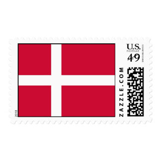 Stamp with Flag of Denmark