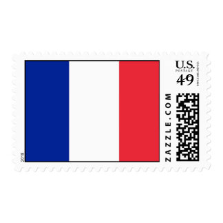 Stamp with Flag of France