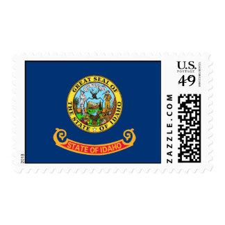 Stamp with Flag of Idaho, U.S.A.