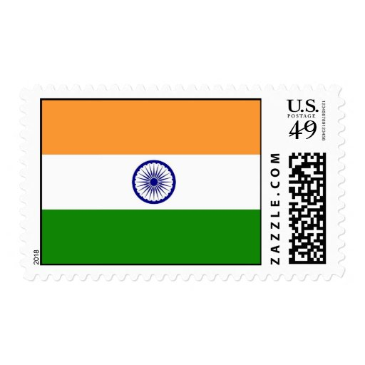 Stamp with Flag of India