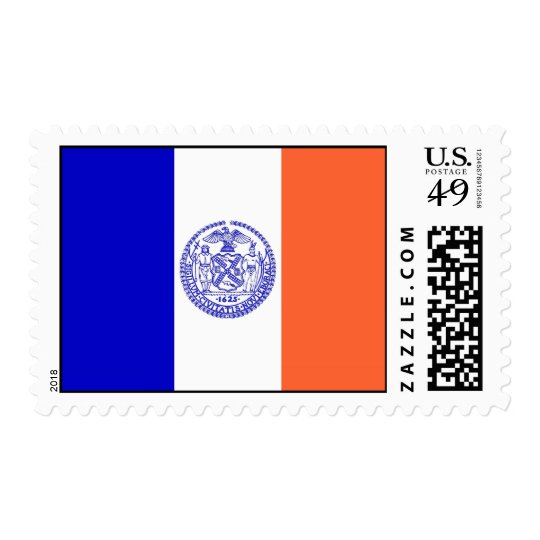 Stamp with Flag of New York, U.S.A.