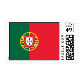 Stamp with Flag of Portugal