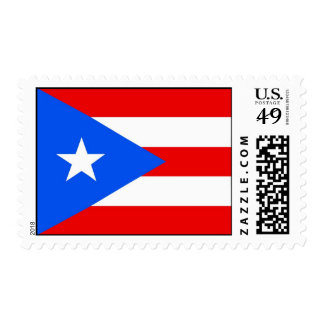 Stamp with Flag of Puerto Rico, U.S.A.