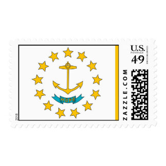 Stamp with Flag of Rhode Island, U.S.A.