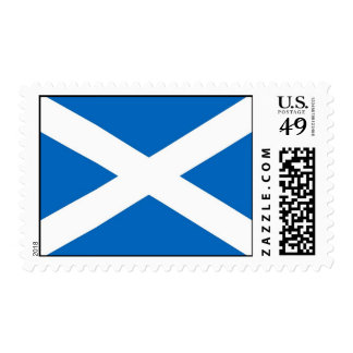 Stamp with Flag of Scotland