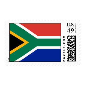 Stamp with Flag of South Africa