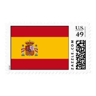 Stamp with Flag of Spain