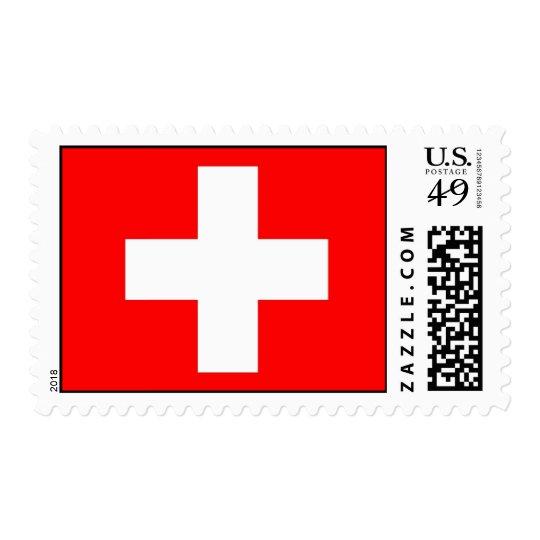 Stamp with Flag of Switzerland