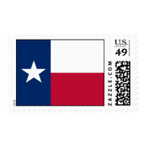 Stamp with Flag of Texas, U.S.A.