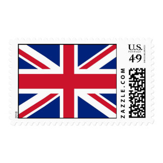 Stamp with Flag of United Kingdom