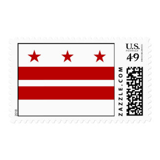 Stamp with Flag of Washington DC, U.S.A.