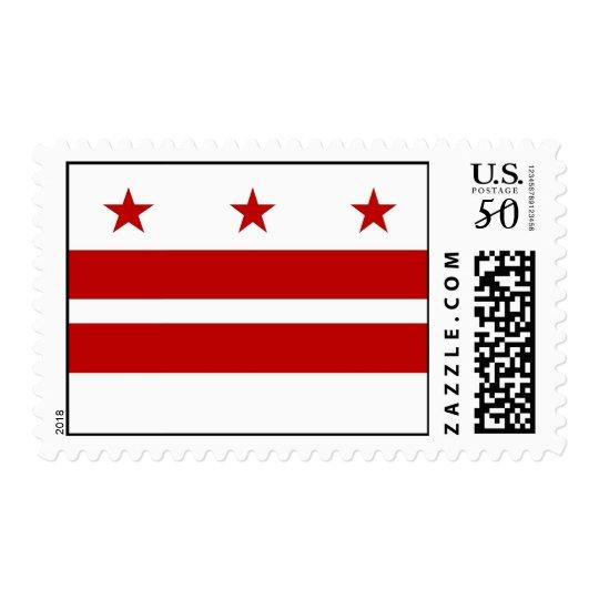 Stamp with Flag of Washington DC, U.S.A.