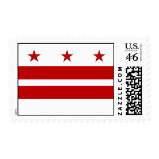 Stamp with Flag of Washington DC U S A