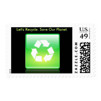 Stamp with recycle design.