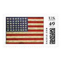 Stamp with Vintage American Flag