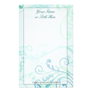 Stamped Blue Stationery