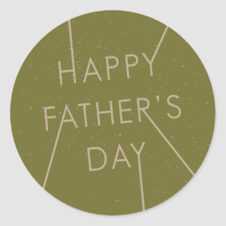 Stamped Father's Day Sticker - Army Round Sticker