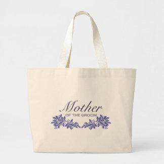 Stamped Floral Mom of Groom Canvas Bag