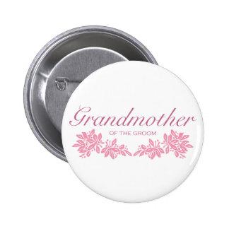 Stamped Floral Wedding Design Button