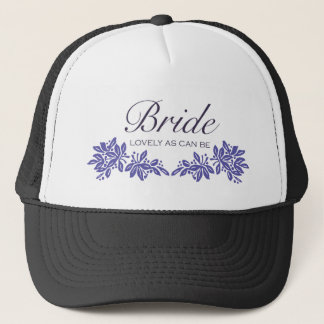 Stamped Floral Wedding Design Trucker Hat