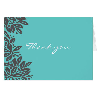Stamped Floral Wedding Pattern Stationery Note Card