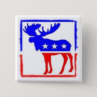 Stamped Moose Button