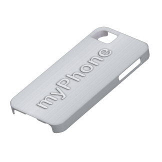 Stamped myPhone  Brushed Metallic iPhone5 Case
