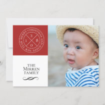 Stamped Red Holiday Photo Card