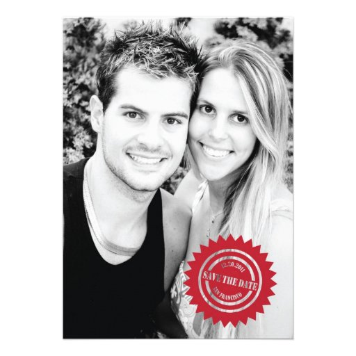 Stamped Save the Date Photo Invitation