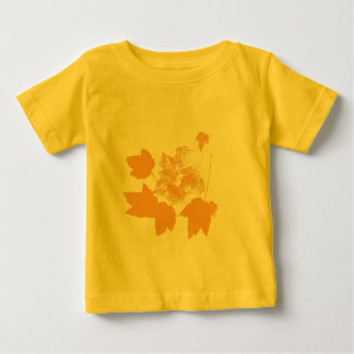 Stamped Yellow Maple Leaves Toddler Baby T-Shirt