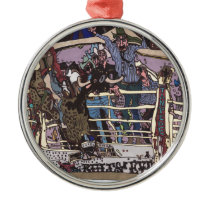 Stampede 8 seconds metal ornament