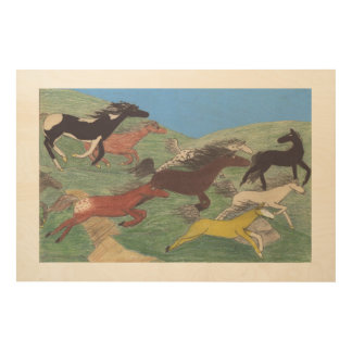 Stampede! Little Tyke's Painting Wood Wall Decor