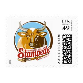 Stampede postage stamps