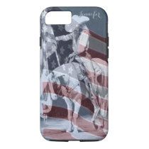 Stampede Prayers (ballpoint with flag) iPhone 8/7 Case