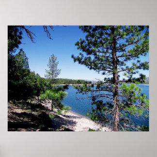 Stampede Reservoir - Tahoe National Forest Poster