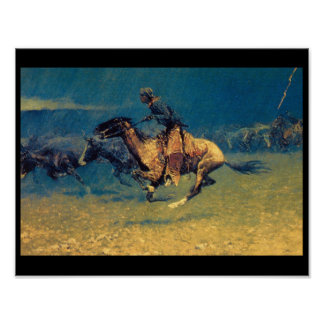 Stampeded by Lightning_Art of America Poster