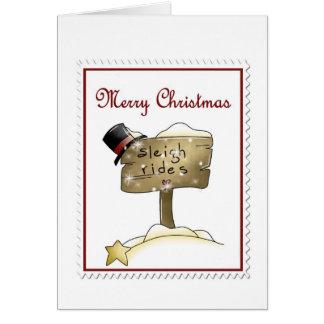 Stampin Christmas Greeting Card